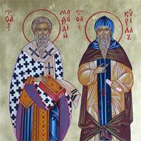 Равноапостольные Кирилл и Мефодий: иконы, фрески, памятники