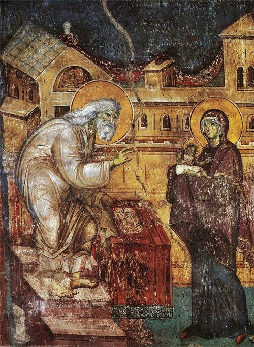 Сретение Господне, фреска