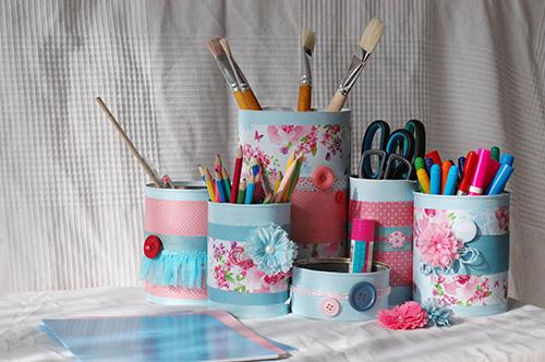 DIY. Подставки для школьных принадлежностей своими руками