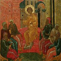 Икона Преполовения: Отрок и мудрецы