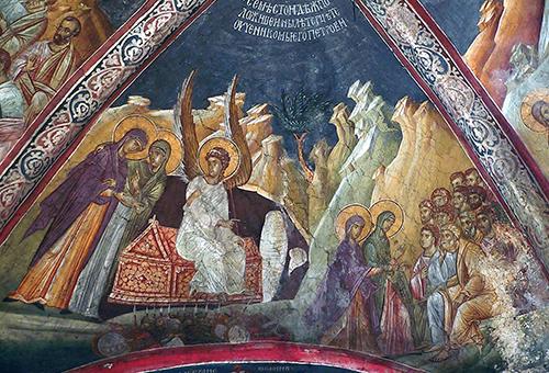 Явление ангела женам-мироносицам, икона
