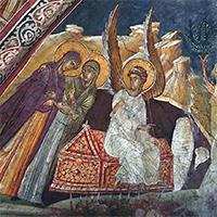 «Жeны-мирoноcицы у Грoба Гocпoдня»: первая икона Воскресения