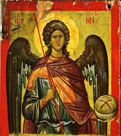 Церковь почитает архангела Михаила как защитника веры и борца против ересей и всякого зла. Его церковное именование
