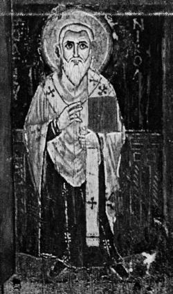 Наиболее древние из сохранившихся изображений святителя Николая относятся к VII-VIII векам: на синайском диптихе (вместе со святыми Петром, Павлом и Иоанном Златоустом), на печати митрополита Комитского и на сирийской ставротеке Frechi-Morgan из музея «Метрополитен» в Нью-Йорке
