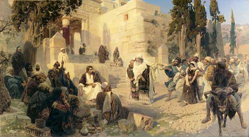 В.Д. Поленов. Христос и грешница (1888)