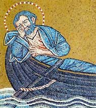 Мозаика из собора св апостола Марка в Венеции изображающая апостола Марка во время путешествия из Аквилеи в Рим Предание гласит что святому во сне ...