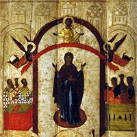 Тропарь Покрова Пресвятой Богородицы: Днесь, благоверные людие, светло празднуем