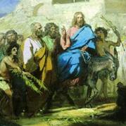 Вход Господень в Иерусалим: иконы, фрески, рельефы